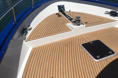 Ocean Boatwork's installation of Flexiteek decking for Northern Marine